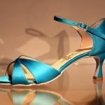 Buty do tańca niebieskie