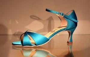 Buty do tańca robione na zamówienie - niebieskie